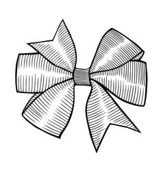 a bow ribbon gift vector image