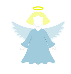 A christmas angel of icon in the color vector