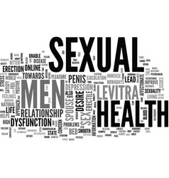 A positive approach towards men s sexual health vector
