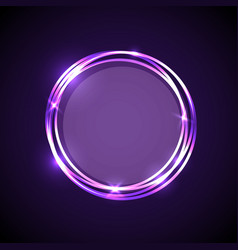 Abstract background with purple neon circles vector