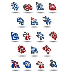 Abstract icons symbols and logos vector