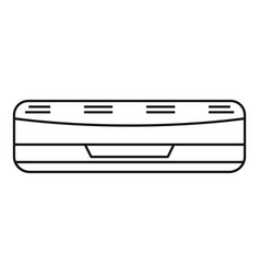 air conditioner icon outline style vector image