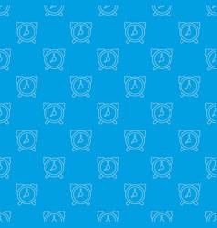 alarm clock pattern seamless blue vector image