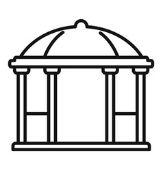 alcove gazebo icon outline style vector image