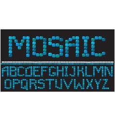 Alphabet - mosaic letters vector