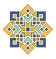 Arabesque eastern pattern vignette in islamic vector