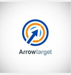 arrow target logo vector image