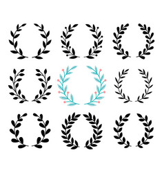 award luarel set vector image