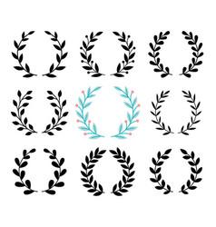 Award luarel set vector