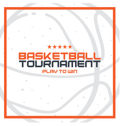 basketball tournament banner modern sports vector image