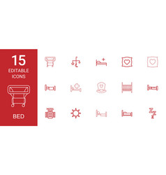 Bed icons vector