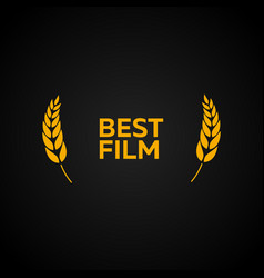 best film laurel film awards winners film vector image