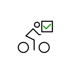 bicycle with a mark icon vector image