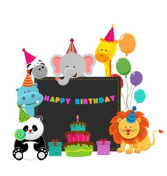 Birthday Animals vector
