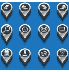black and white icons computer icons isometric vector image