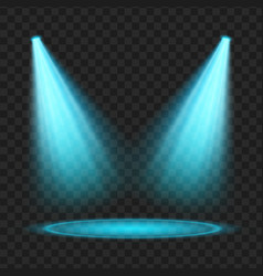 Blue spotlight light effect vector