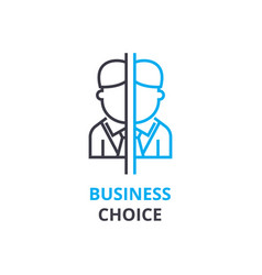business choice concept outline icon linear vector image