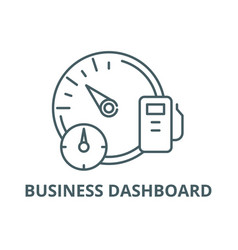 business dashboard line icon business vector image