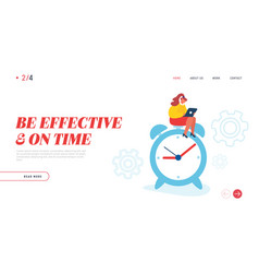 business working process website landing page vector image