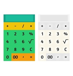Calculator template vector image