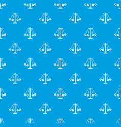 Carnival swing ride pattern seamless blue vector