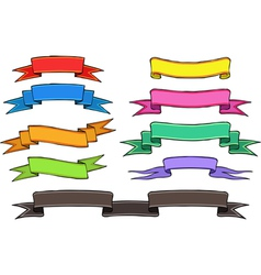 Cartoon banners and ribbons vector