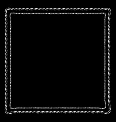 chains bandanna square silk scarf template vector image