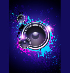 club disco flyer dancing template with subwoofer vector image