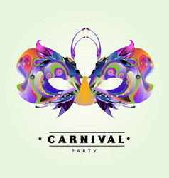 Colorful carnival mask for mardi gras party vector
