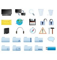 Computer icons set web20 vector