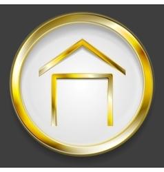 Concept golden house symbol logo vector image