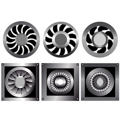 cooling fan vector image