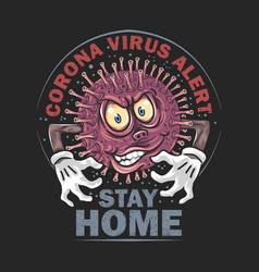 Corona virus monster covid-19 artwork vector