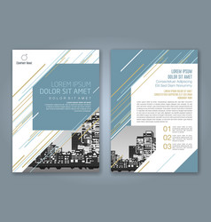 Cover annual report 927 vector