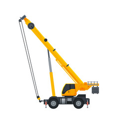 Crane construction machinery heavy special yellow vector