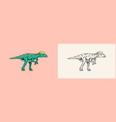 Dinosaur lexovisaurus vector