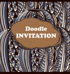 doodle save date card vector image