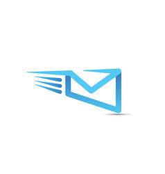 email logo design - internet mail message web send vector image