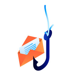 Email phishing icon isometric style vector