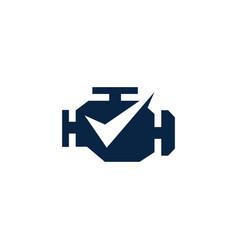 engine check logo icon vector image