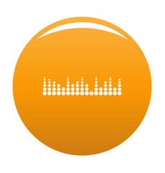 Equalizer musical radio icon orange vector