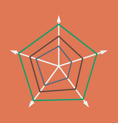 Flat icon on stylish background thin chart vector