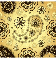 Gold and brown seamless pattern vector