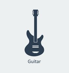 guitar icon silhouette icon vector image