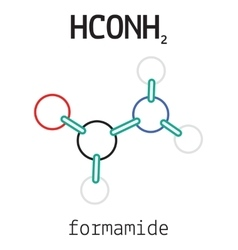 HCONH2 formamide molecule vector