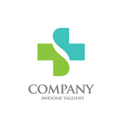 healthcare cross abstract logo vector image