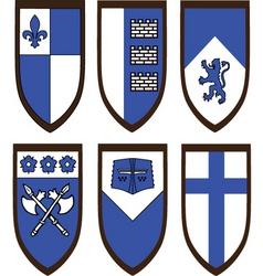 Heraldic shield set vector