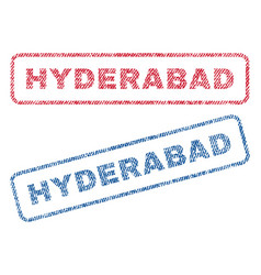 Hyderabad textile stamps vector