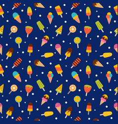 ice cream seamless pattern cute colorful summer vector image