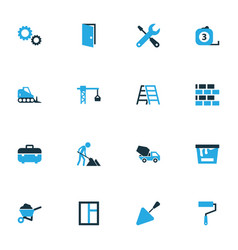 Industry colorful icons set collection of dozer vector